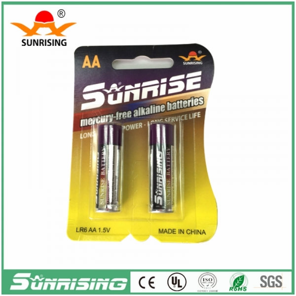 Alkaline LR6 AA 1.5V Battery 2pcs Card