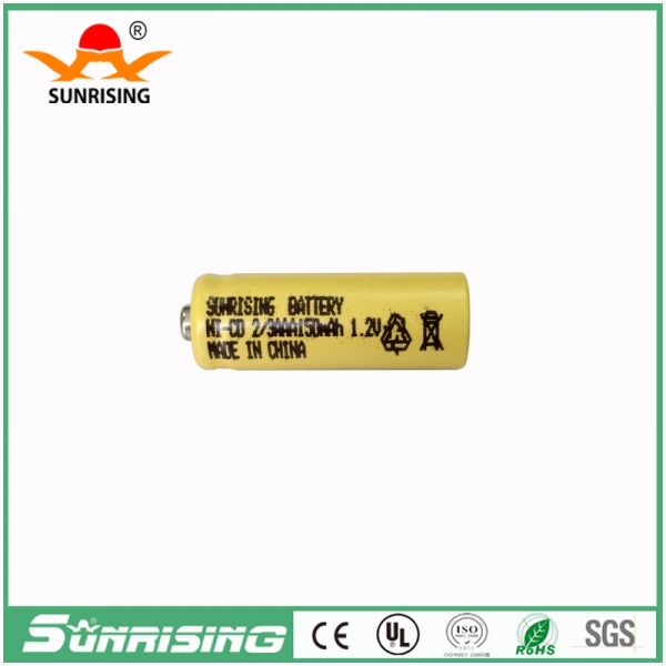 NICD 2/3AAA 150MAH Button Top Battery