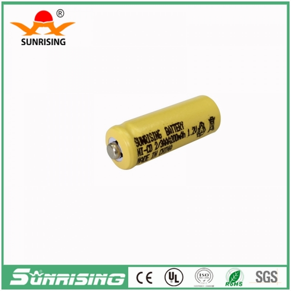 NICD 2/3AAA 200MAH Button Top Battery