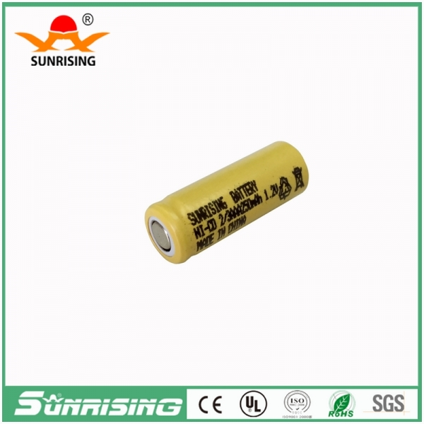 NICD 2/3AAA 250MAH Flat Top Battery