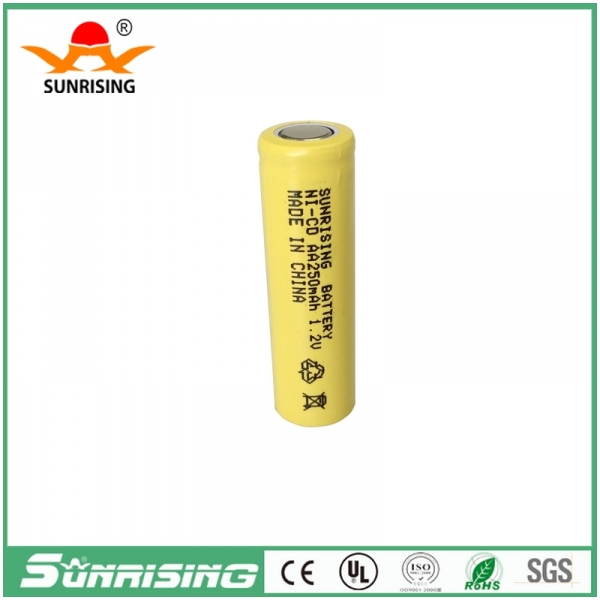 NICD AA 250MAH Flat Top Battery