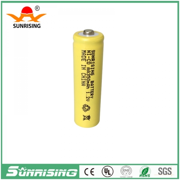 NICD AA 350MAH Button Top Battery