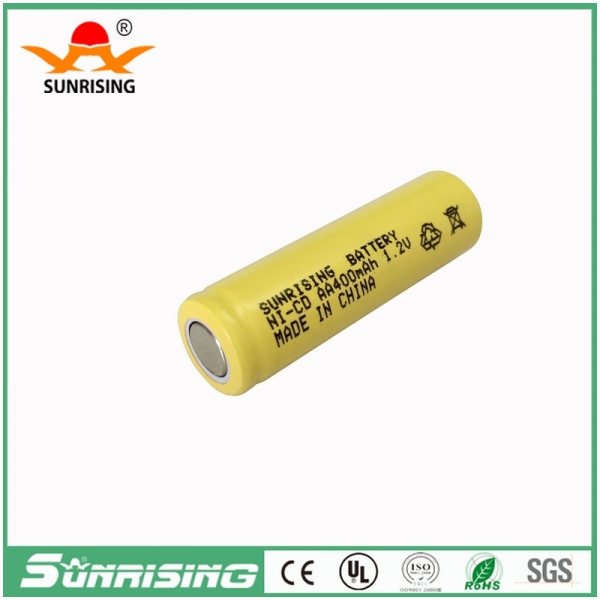 NICD AA 400MAH Flat Top Battery