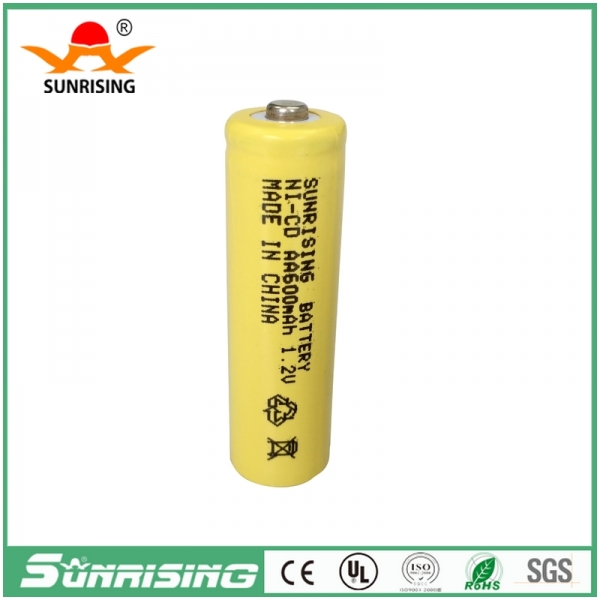 NICD AA 600MAH Button Top Battery