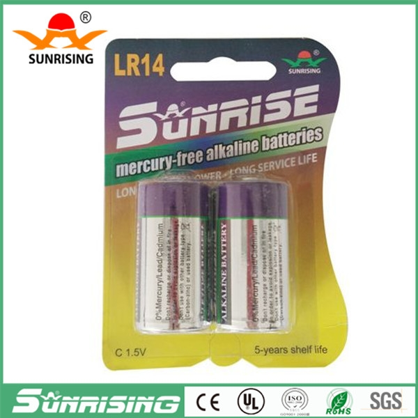 LR14 Battery C size with blistercard